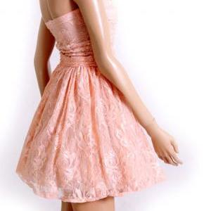 Peach lace/ evening / bridesmaid /c..