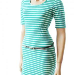 Mint and white/ cotton / women's St..
