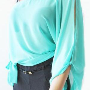 Plus Size Sexy Chiffon /beach top/p..