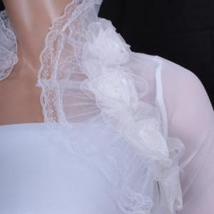 Bridal Optical White fluffy ruffles..