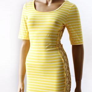 Women's striped /Yellow and white /..