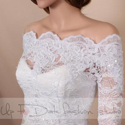 Bridal White Off-Shoulder / Lace em..