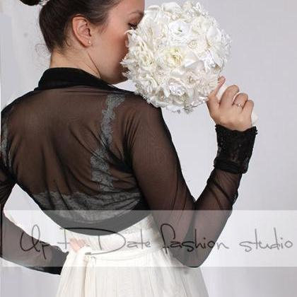 Bridal tulle black bolero/jacket/ l..