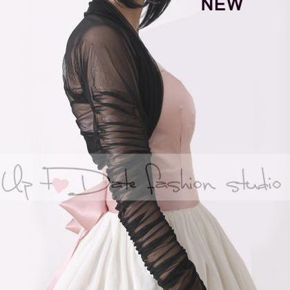 Bridal BLACK tulle jacket/cover up/..