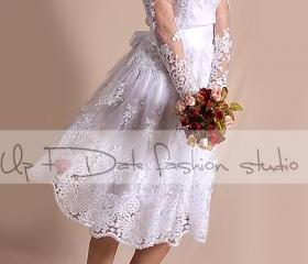 Short Wedding lace d..
