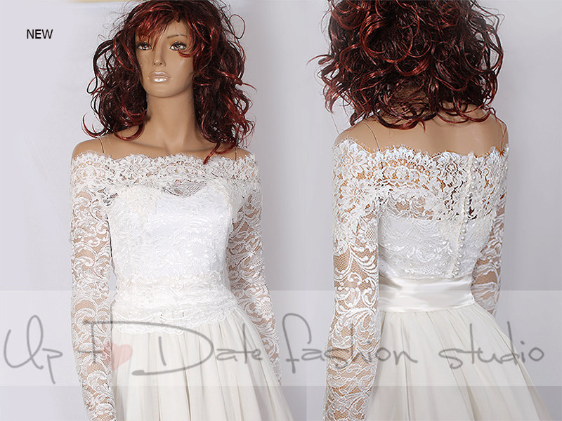 5ce0000a181 Plus Size lace Bridal Off-Shoulder   Lace wedding jacket  Bolero shrug   jacket