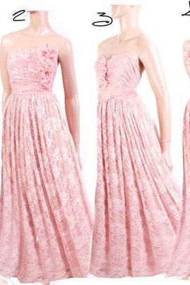 Maxi / lace / pink/ bridesmaid/ evening / party/ dress