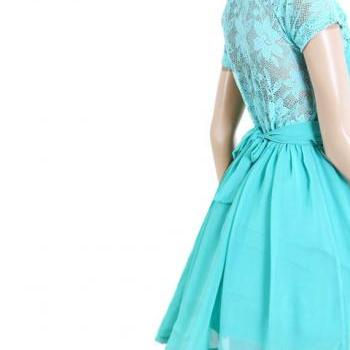 Mint/ Lace/Bridesmaid / Wedding Party / Cocktail / Evening / Prom / Graduation dress
