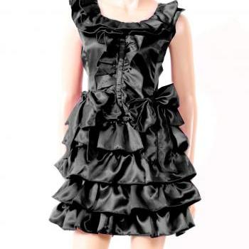 Little Black /Satin / Party / Cocktail/Ruffle/ party/ Dress