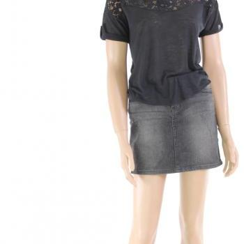 Fresh top/ Black lace casual blouse